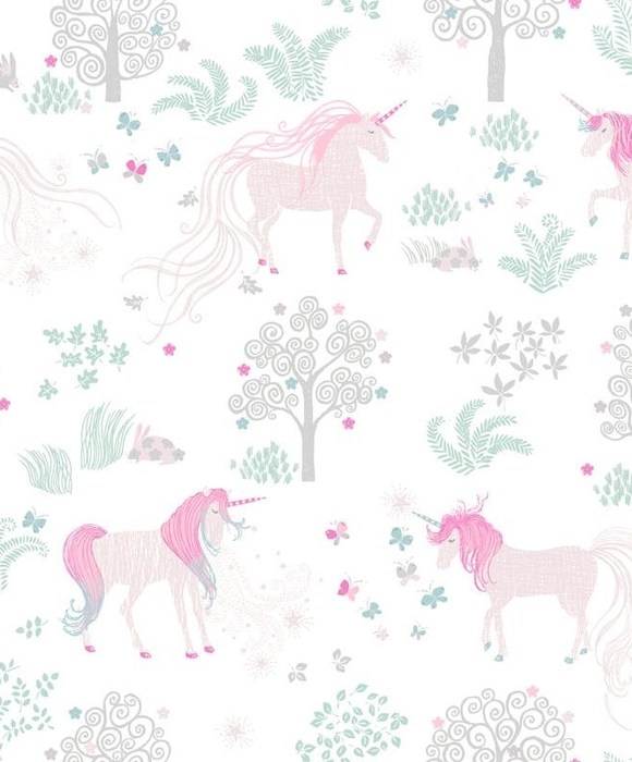 Обои Mr Perswall - UNICORNS - WHITE