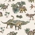 Обои Mr Perswall - DINOSAURS - MULTI